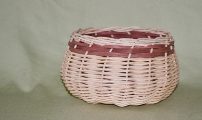 Nut basket, round reed and flat reed